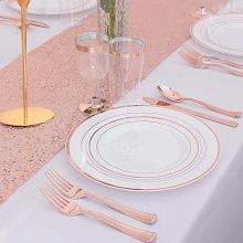 שולחן חג ברוז גולד