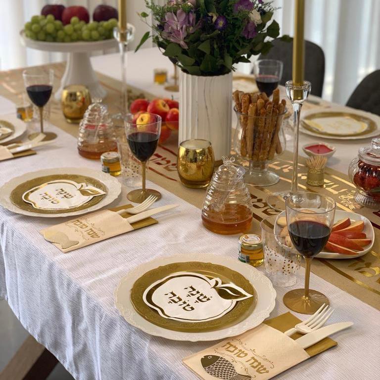 שולחן חג בזהב